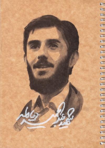 دفتر ایرانی ایام: 100 برگ تک خط سیمی شومیز - طرح عبدالحمید دیالمه