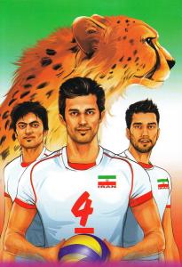 دفتر ایرانی هدهد: 40 برگ تک خط شومیز - طرح ورزشکاران