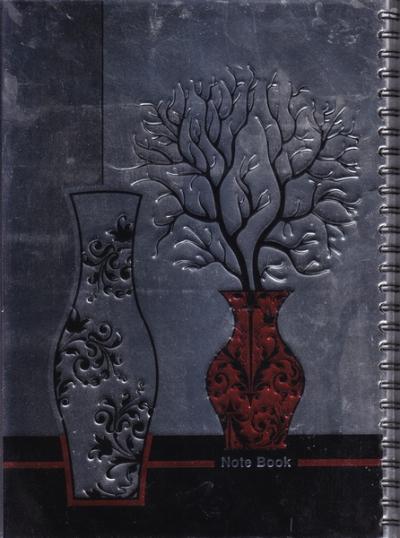دفتر ایرانی کلاسیک: 60 برگ تک خط سیمی شومیز - طرح ششم